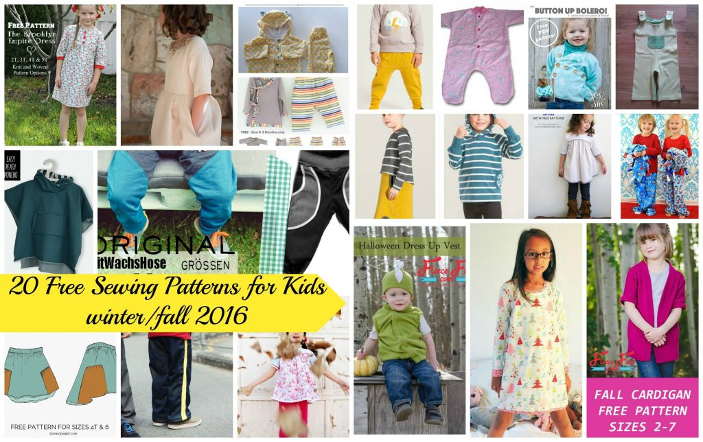 20 Free Sewing Patterns for Kids winter/fall 2016 - Life Sew Savory