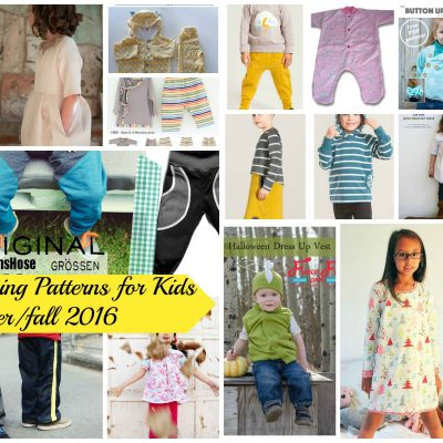 20 Free Sewing Patterns for Kids winter/fall 2016