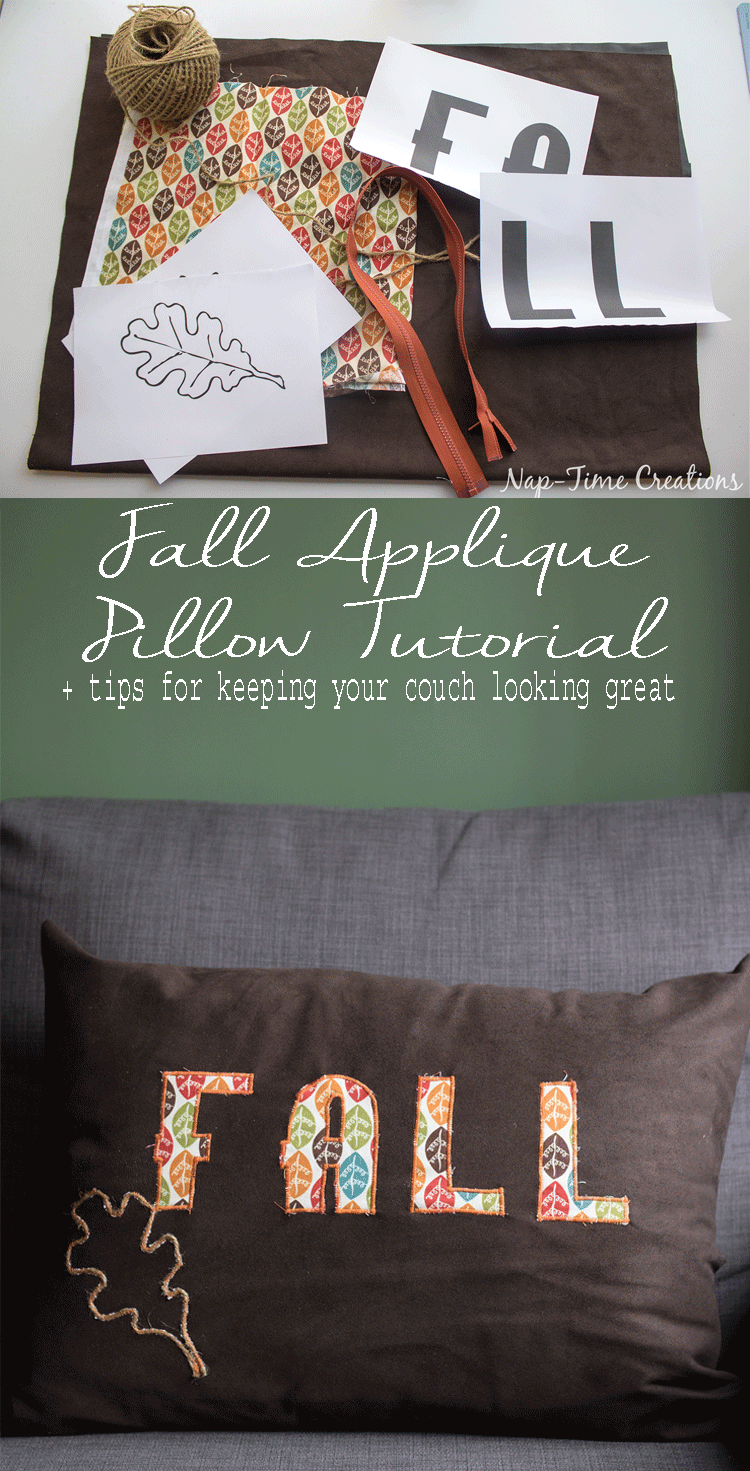 fall applique pillow tutorial-and-tips-for-keeping-your-couch-looking-great-from-nap-time-creations