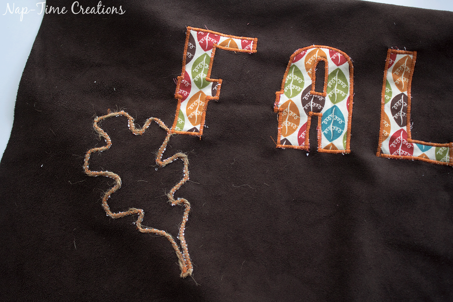 fall applique pillow