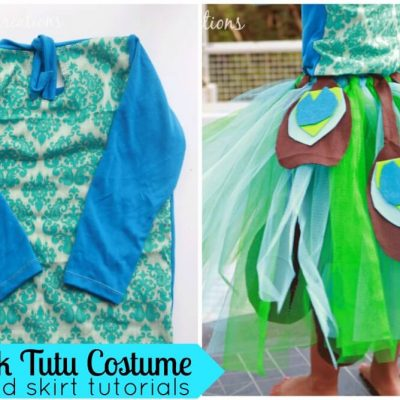T-Shirt Hack & Peacock Tutu Skirt