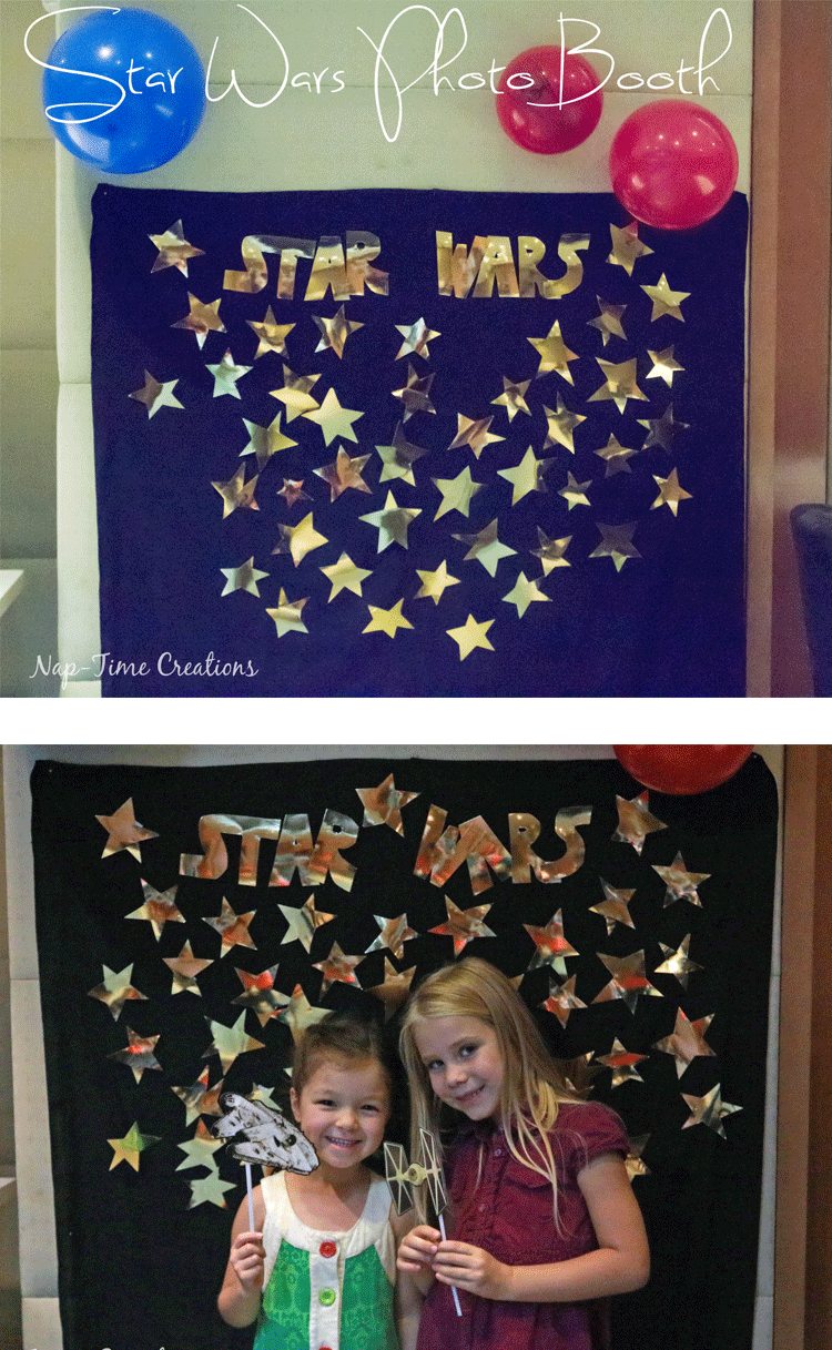 Easy Star Wars Birthday Party star-Wars-party-photo-booth