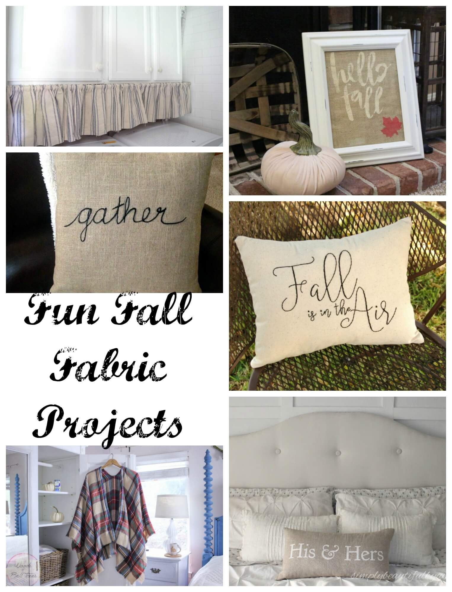 Fun Fall Fabric Projects from Nap-Time Creations