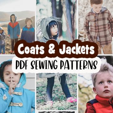 Kids Winter Fall Outerwear Sewing Patterns
