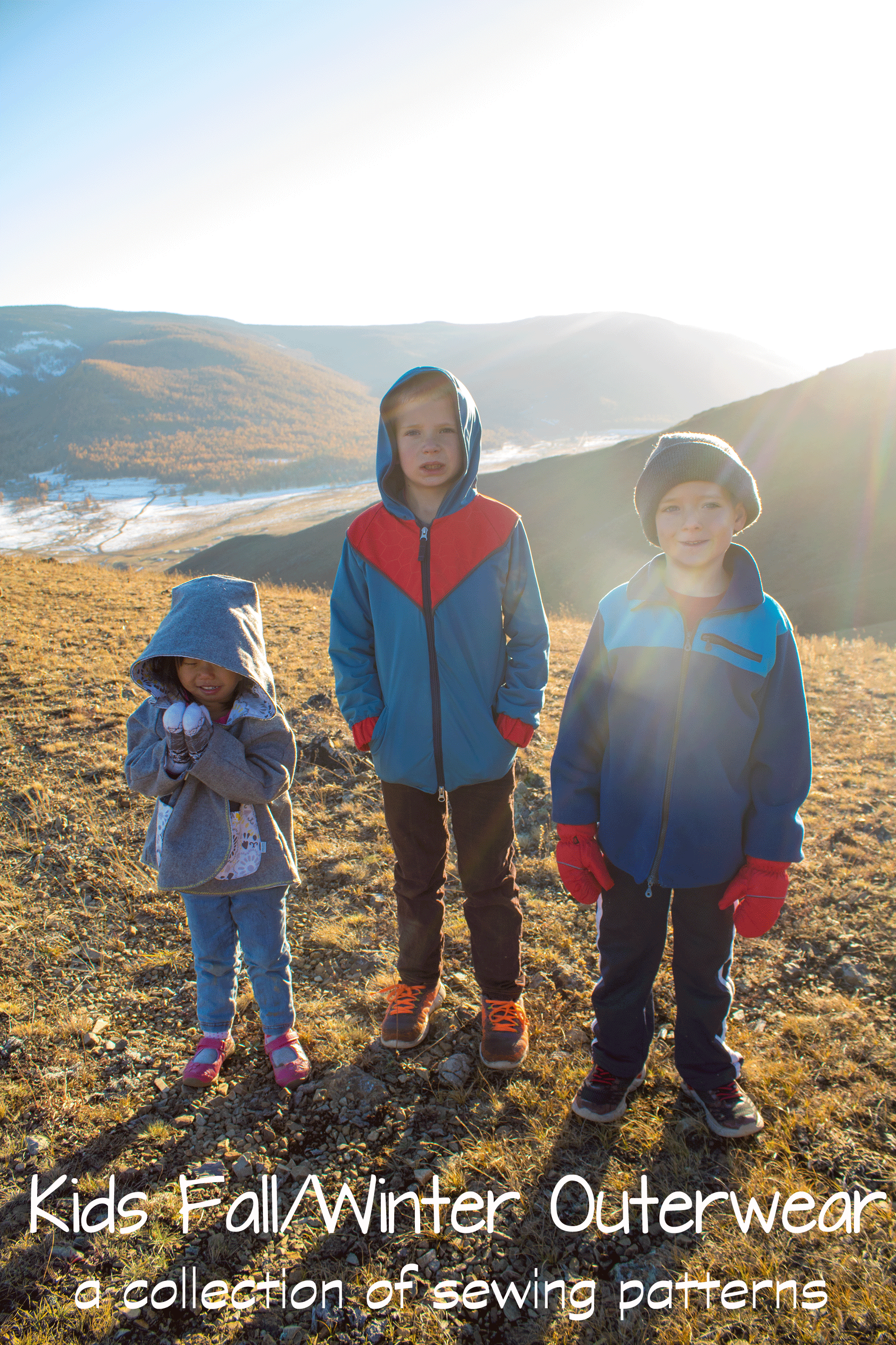 Kids Fall Winter Outerwear sewing patterns from Nap-Time Creations