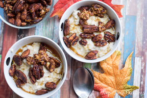 Pumpkin Spice Nuts on Oatmeal