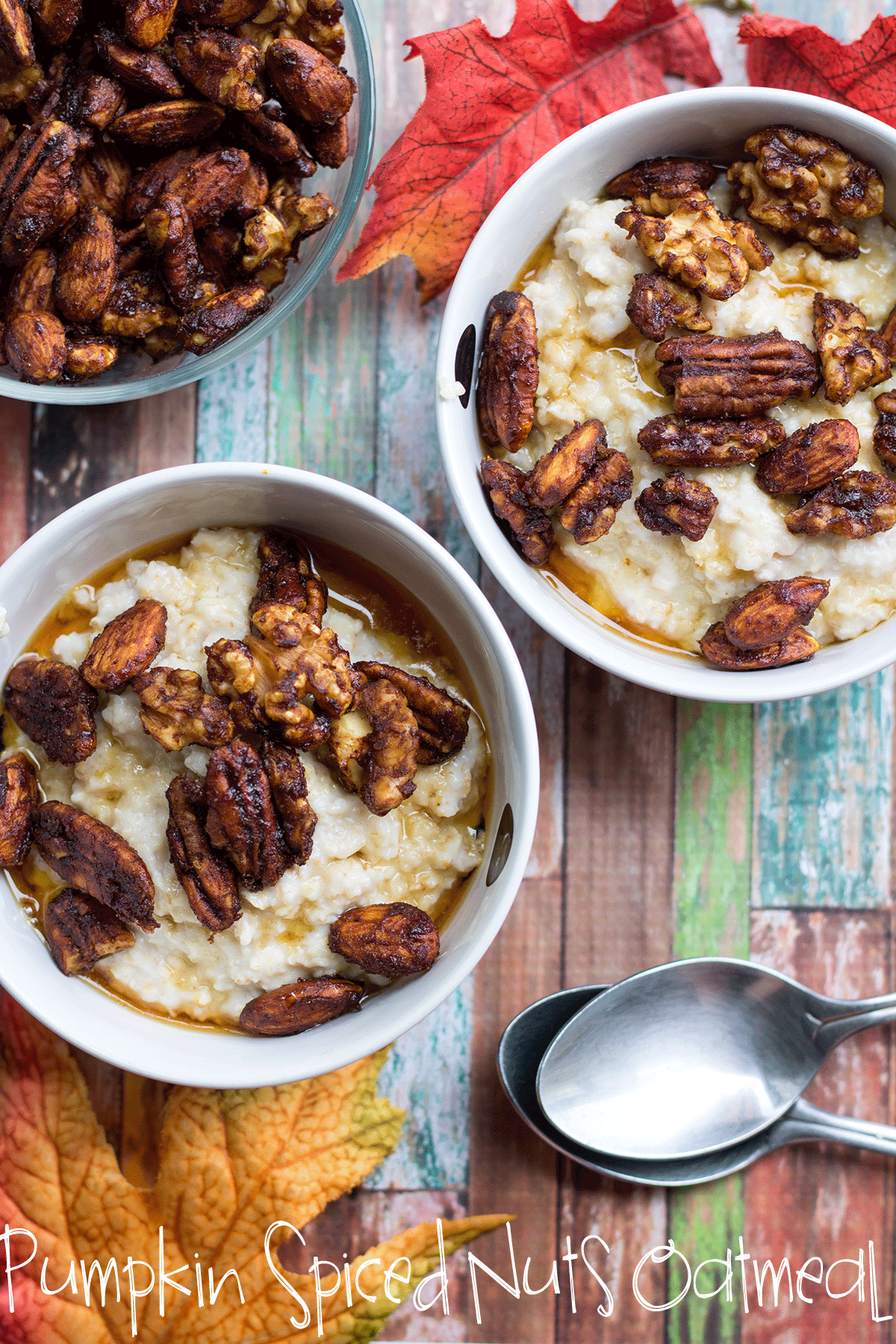 pumpkin spice nuts oatmeal-a-perfect-fall-breakfast-from Life Sew Savory
