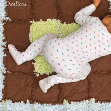 frayed flannel rag quilt