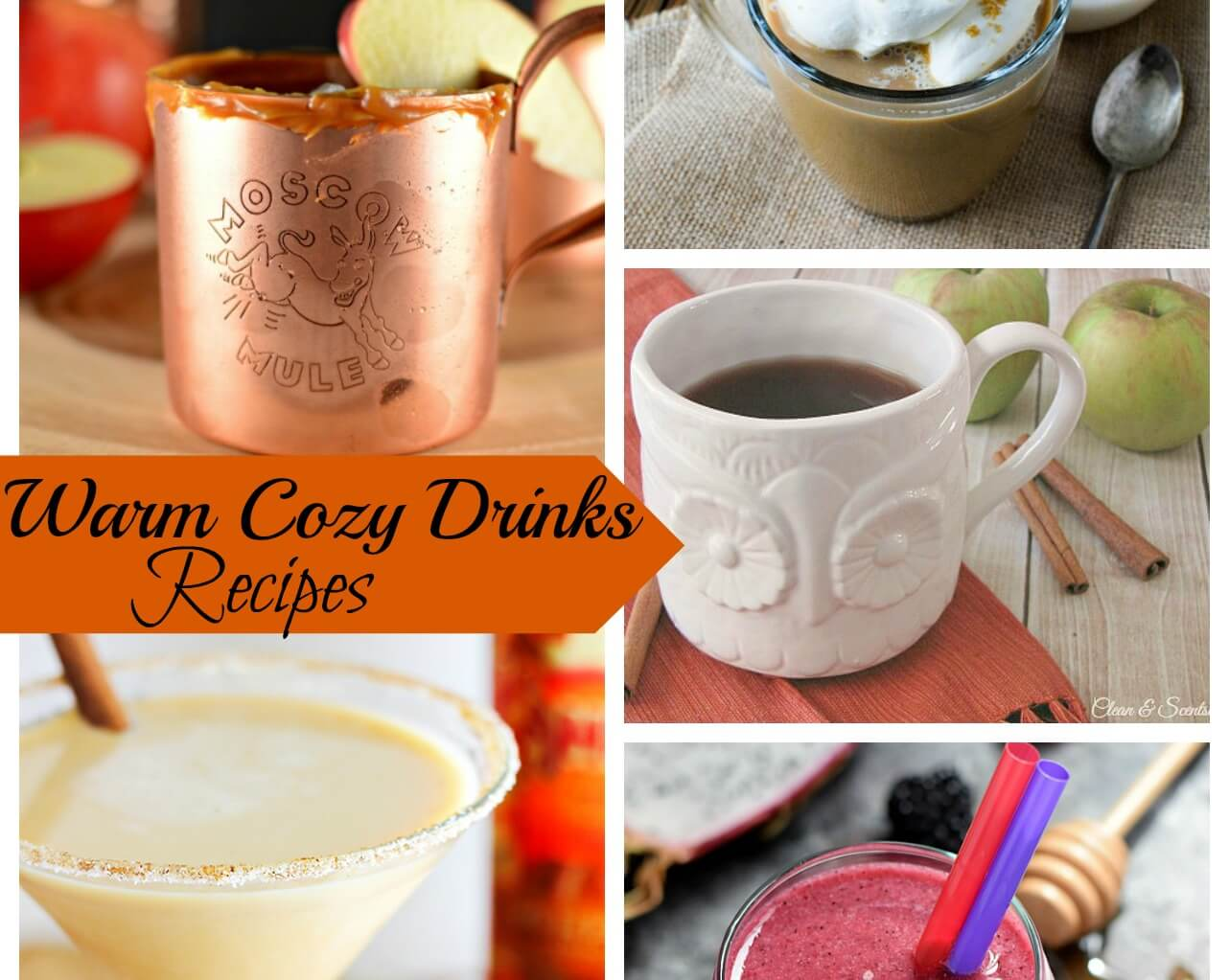 Warm Cozy Drinks & Create Link Inspire Party