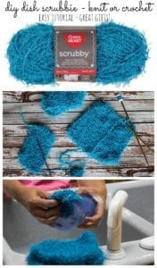 DIY Dish Scrubbies - knit or crochet makes a great gift from Nap-Time Creations