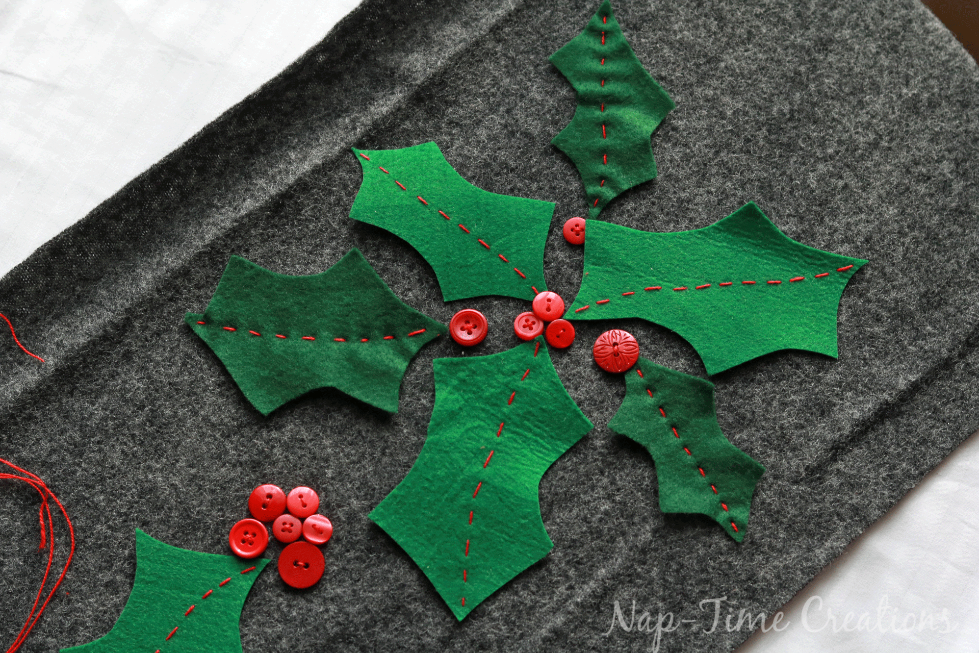 felt christmas table runner