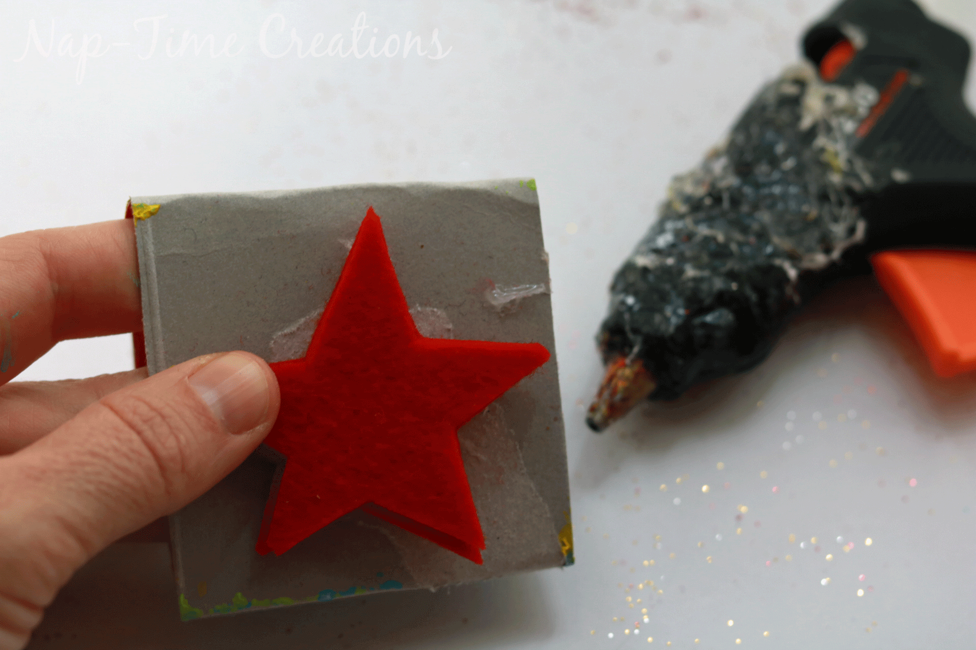 make your own felt stamps