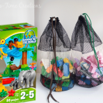 Easy DUPLO Organization with DIY Bags