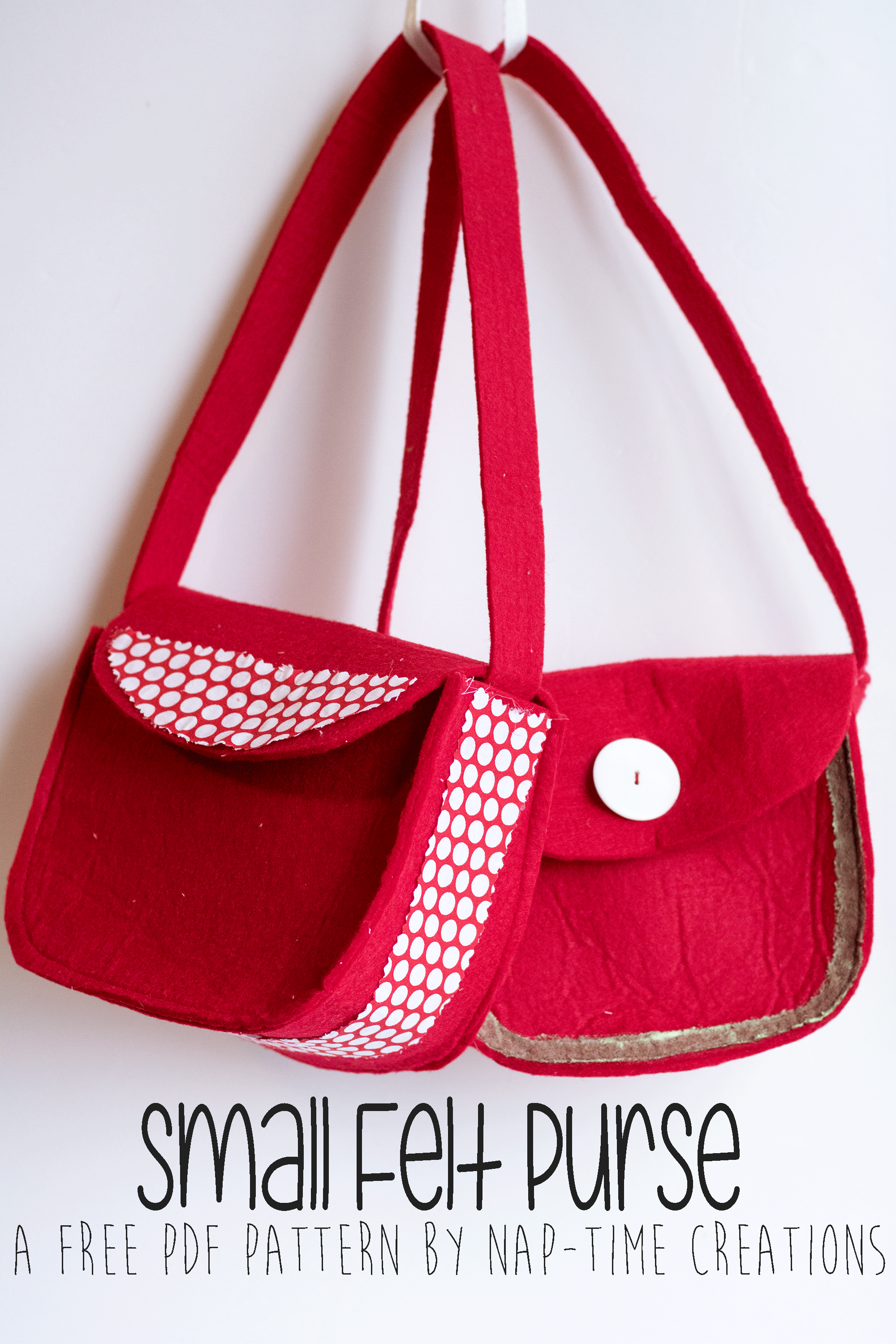 Small Felt Purse FREE Pattern bag pattern from Nap-Time Creations