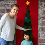 Felt Christmas Tree Growth Chart – a no sew project