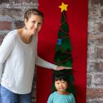 Felt Christmas Tree Growth Chart – a no sew project