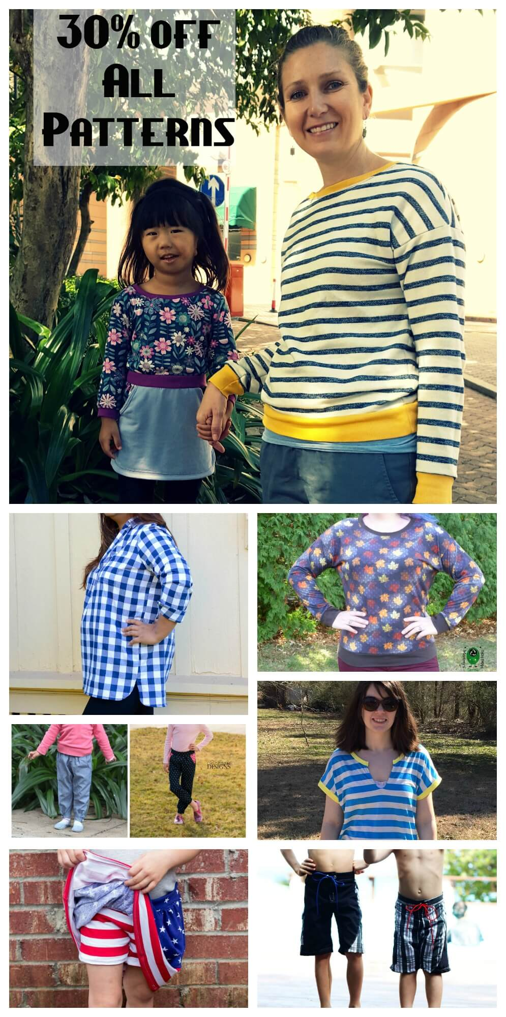 pattern-sale-all patterns 30% off from Nap-Time Creations