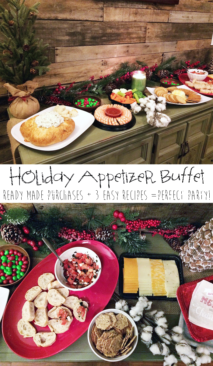 Christmas eve menu ideas buffet christmas cards holiday appetizer buffet for easy entertaining ready made purchases 3 easy holiday appetizer buffet fuzion christmas menu forumfinder Choice Image