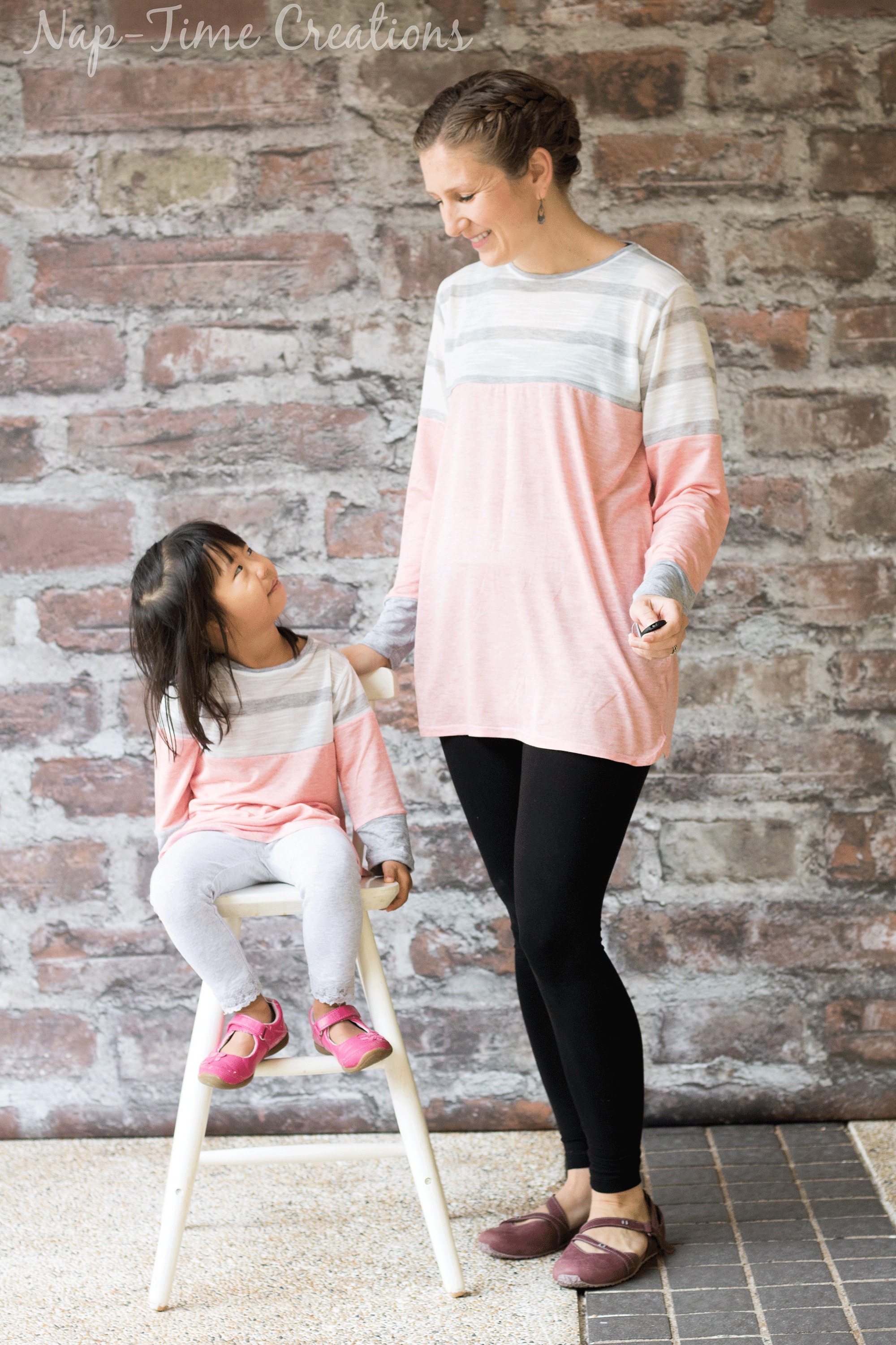 mommy-and-me Color Blocked Tunic Free Pattern from-nap-time-creations