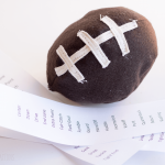 Felt Football Pattern & Game time snacking