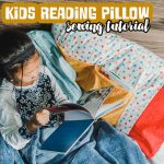 kids reading pillow sewing tutorial