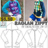 raglan zippy normal