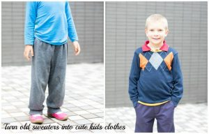 Refashion a sweater for kids Clothes