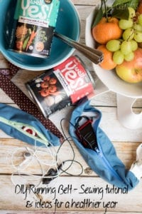 running belt sewing DIY electronic holder for exercise and a healthier year from Nap-Time-Creations #WellYesMoment AD