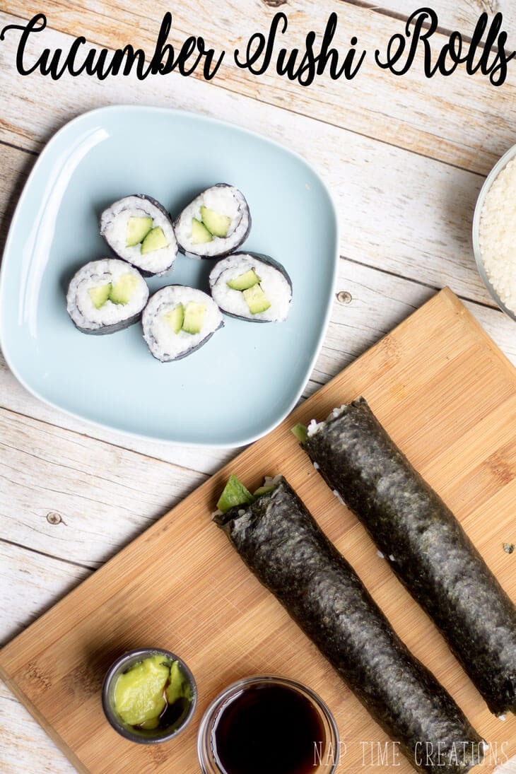 Cucumber sushi Rolls from-Nap-Time-Creations
