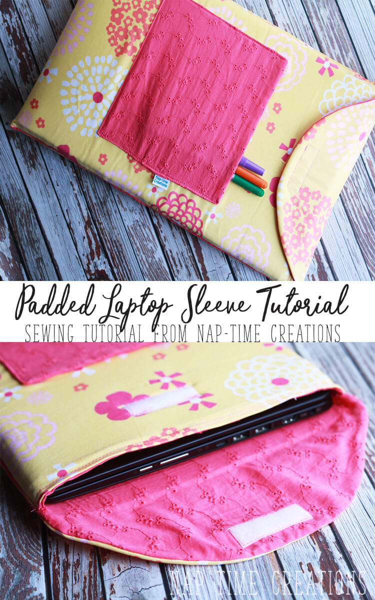 Padded laptop sleeve sewing tutorial from Life Sew Savory