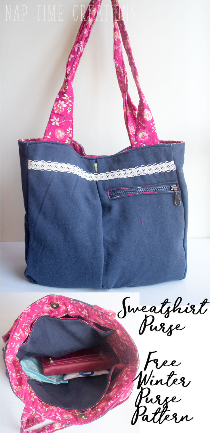 Winter Purse Free Sewing Pattern from-Nap-Time-Creations
