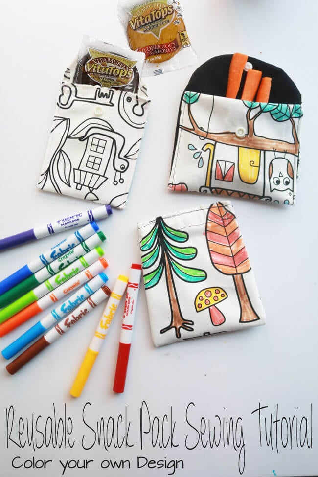 Reusable Snack Bags #AD