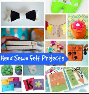 15 Hand Sewn Felt Projects that are ADORABLE & Create Link Inspire Party
