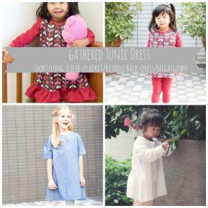Girls Gathered Tunic Dress Free Pattern & Nightgown Size 2-10