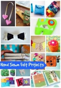 hand sewn felt projects from Nap-Time Creations