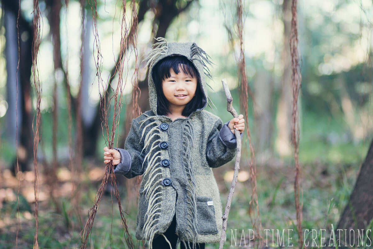 Wild Things Coat from a blanket – The Pixie Pea Coat