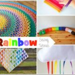 Rainbow Sewing Projects & Create Link Inspire Party