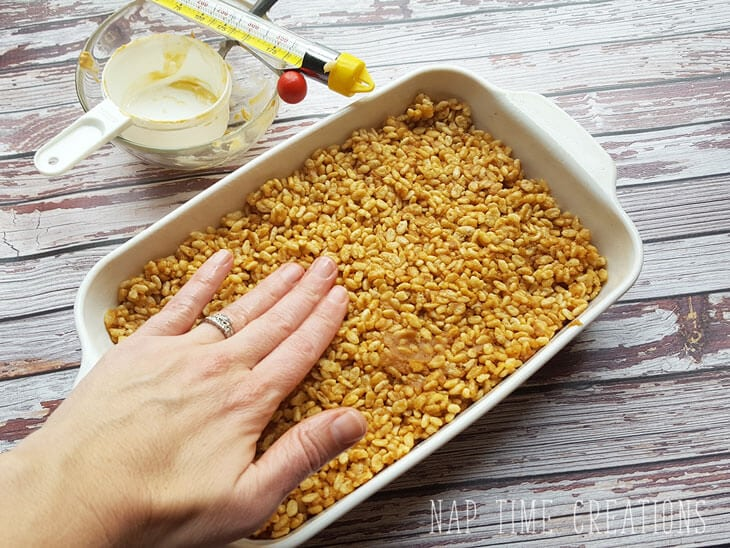 healthy rice crispie treats with-honey-from-Nap-Time-Creations