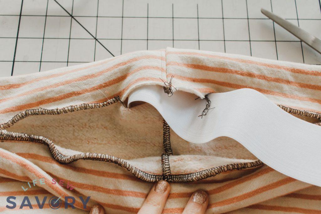thread elastic through band