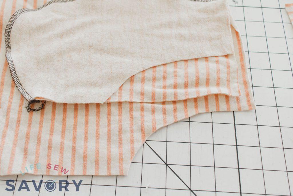 match curved seam