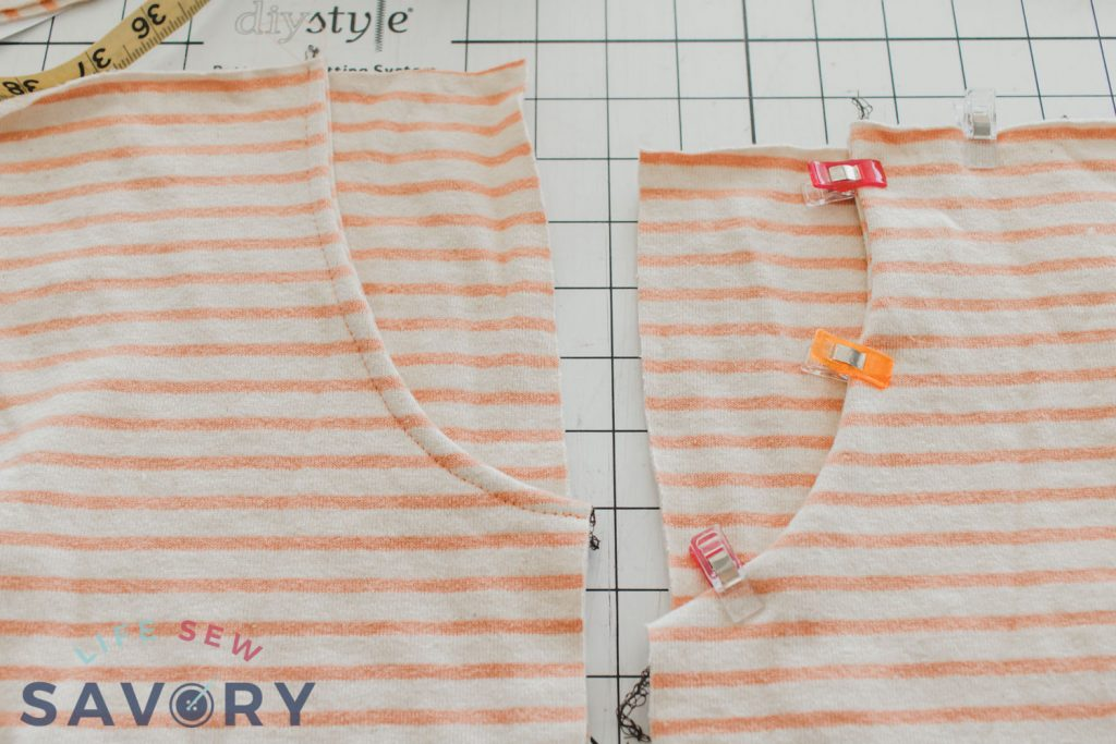sew and topstitch pockets