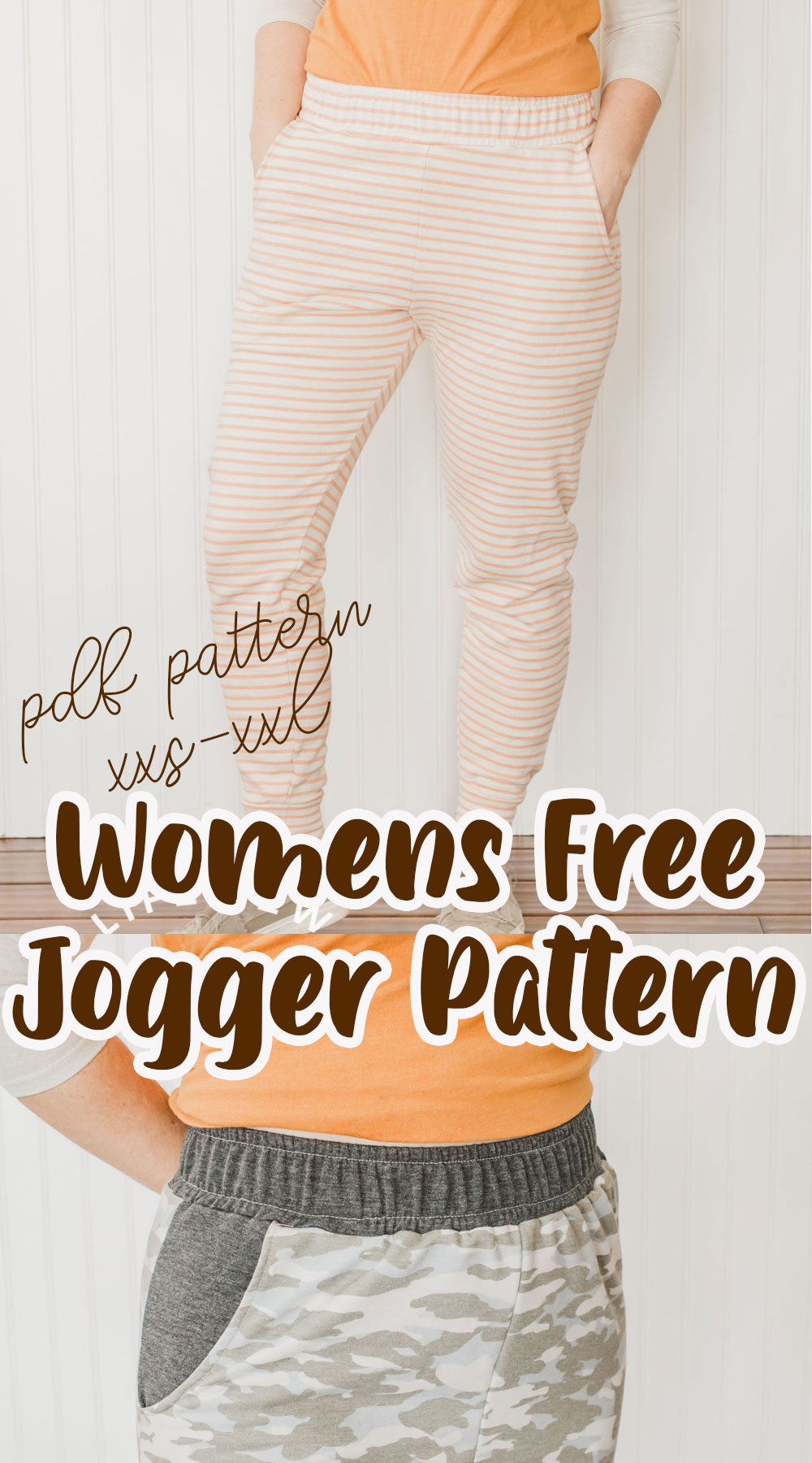 free jogger sewing pattern for women