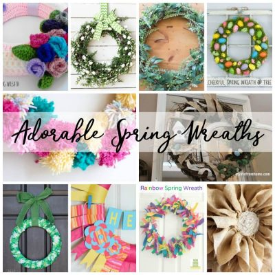 Adorable Spring Wreaths & Create Link Inspire Party