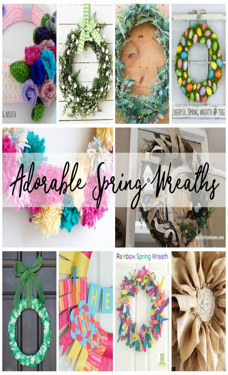 Adorable Spring Wreaths from Nap-Time Creations