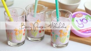 Berry Protein Milkshake with Yo2