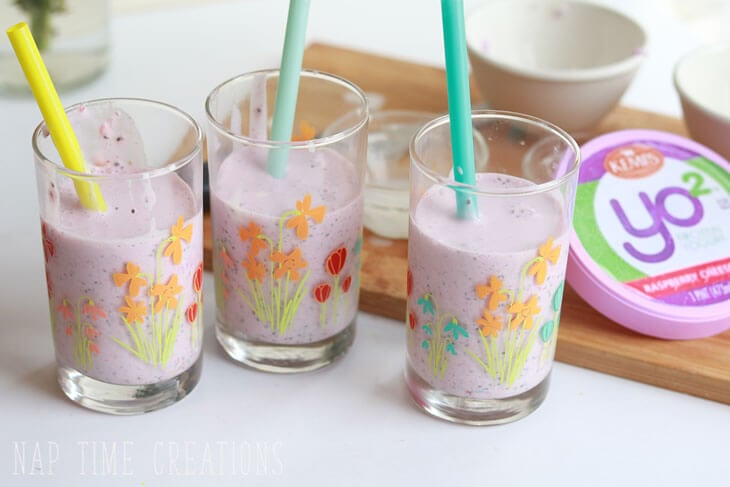Berry Protein Milkshake with Frozen Yogurt from Nap-Time Creations