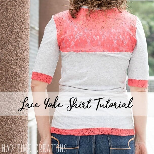 Lace Yoke Shirt Tutorial with free pattern