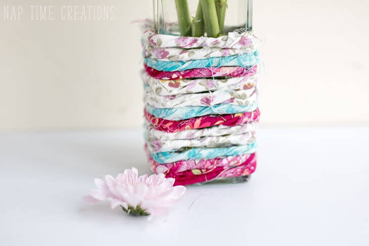 Fabric Wrapped Vase