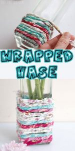 Fabric Wrapped Vase - Quick Craft