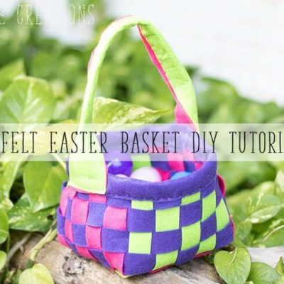 Felt Easter Basket Tutorial- easy DIY